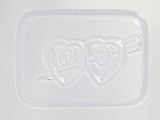 Wedding Favour Soap Mould Mold Double Heart with Arrow 8 Cavity M140