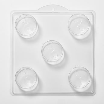 Ying & Yang Soap/Bath Bomb Mould 5 Cavity M139