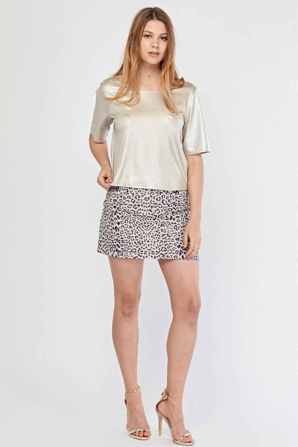 Falda mini animal print
