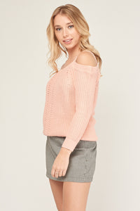 Suéter punto off cold shoulder