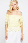 Top off shoulder croché