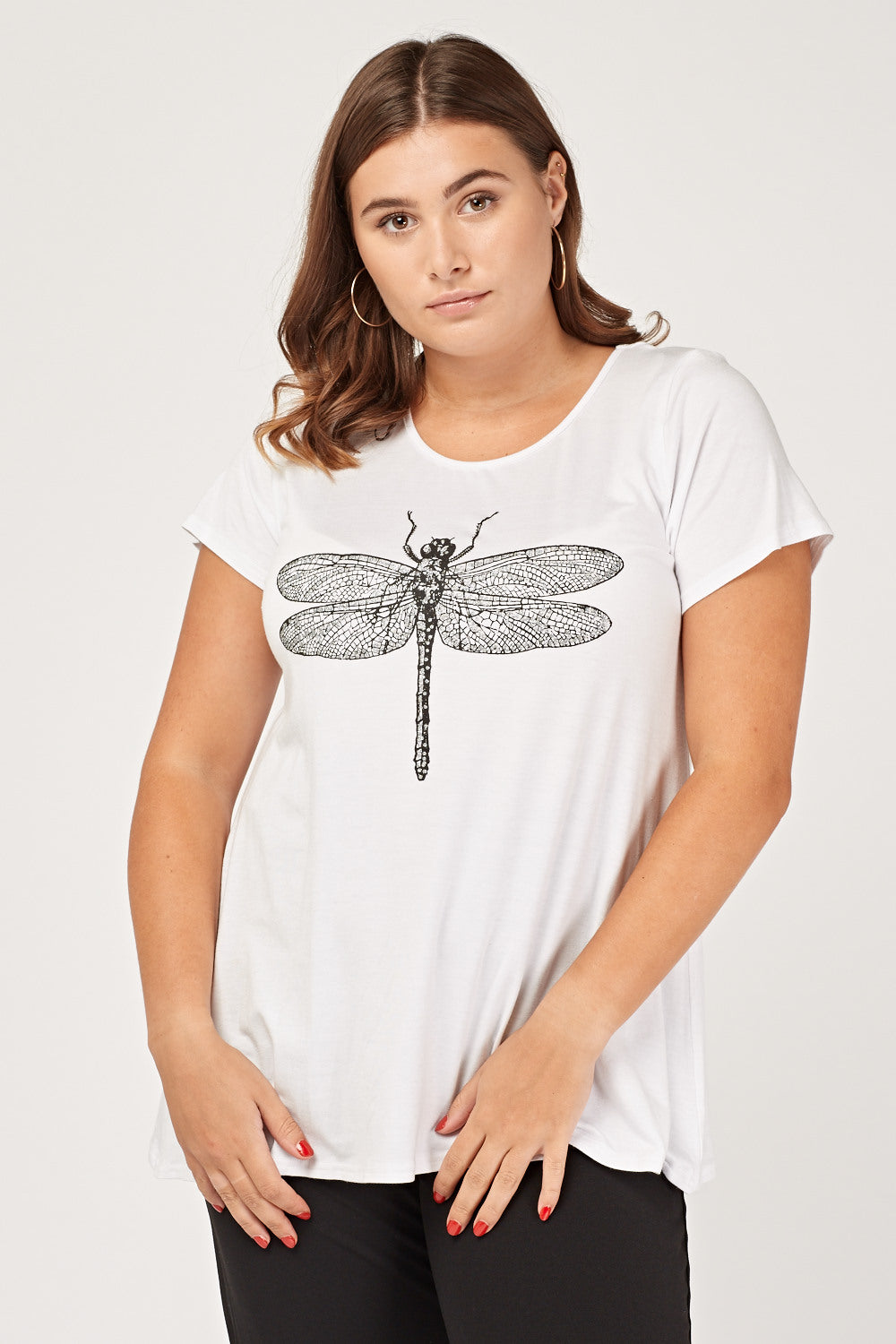 Top estampado dragon fly