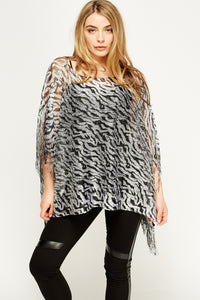 Poncho animal print
