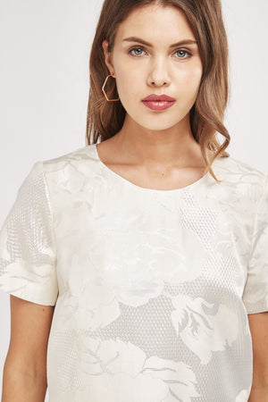 Crop top jacquard