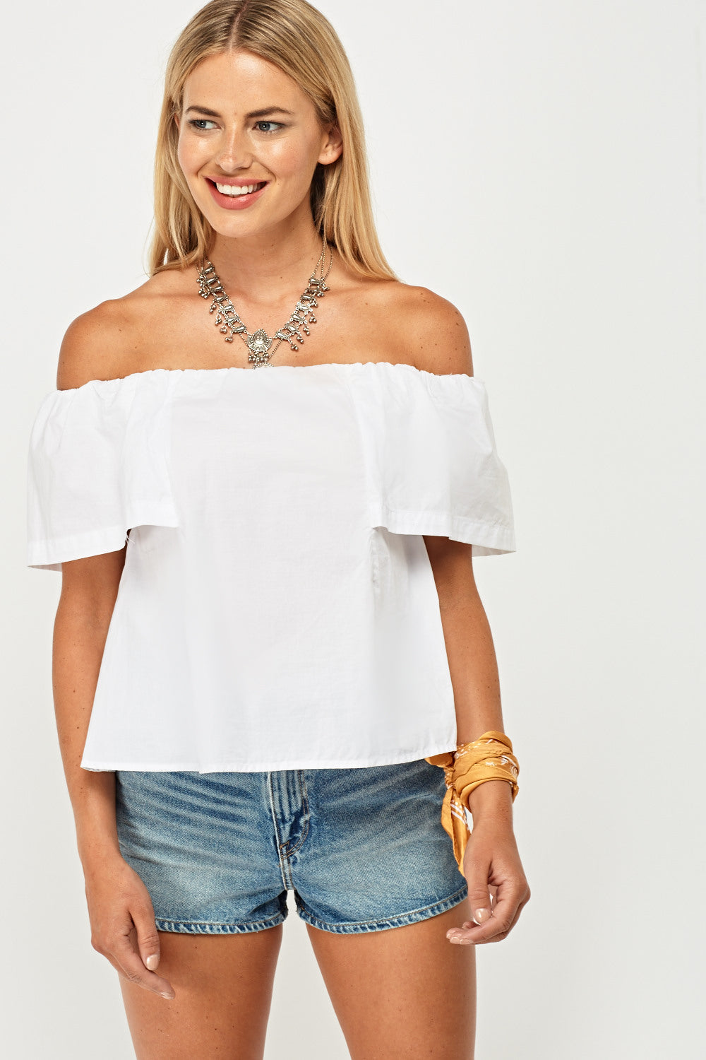 Top básico off shoulder