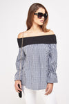 Top cuadritos off shoulder