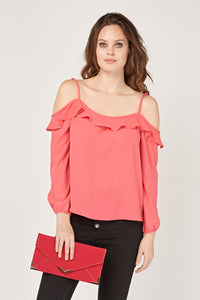 Blusa volantito off shoulder
