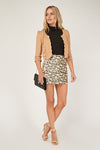 Blazer cropped scallop