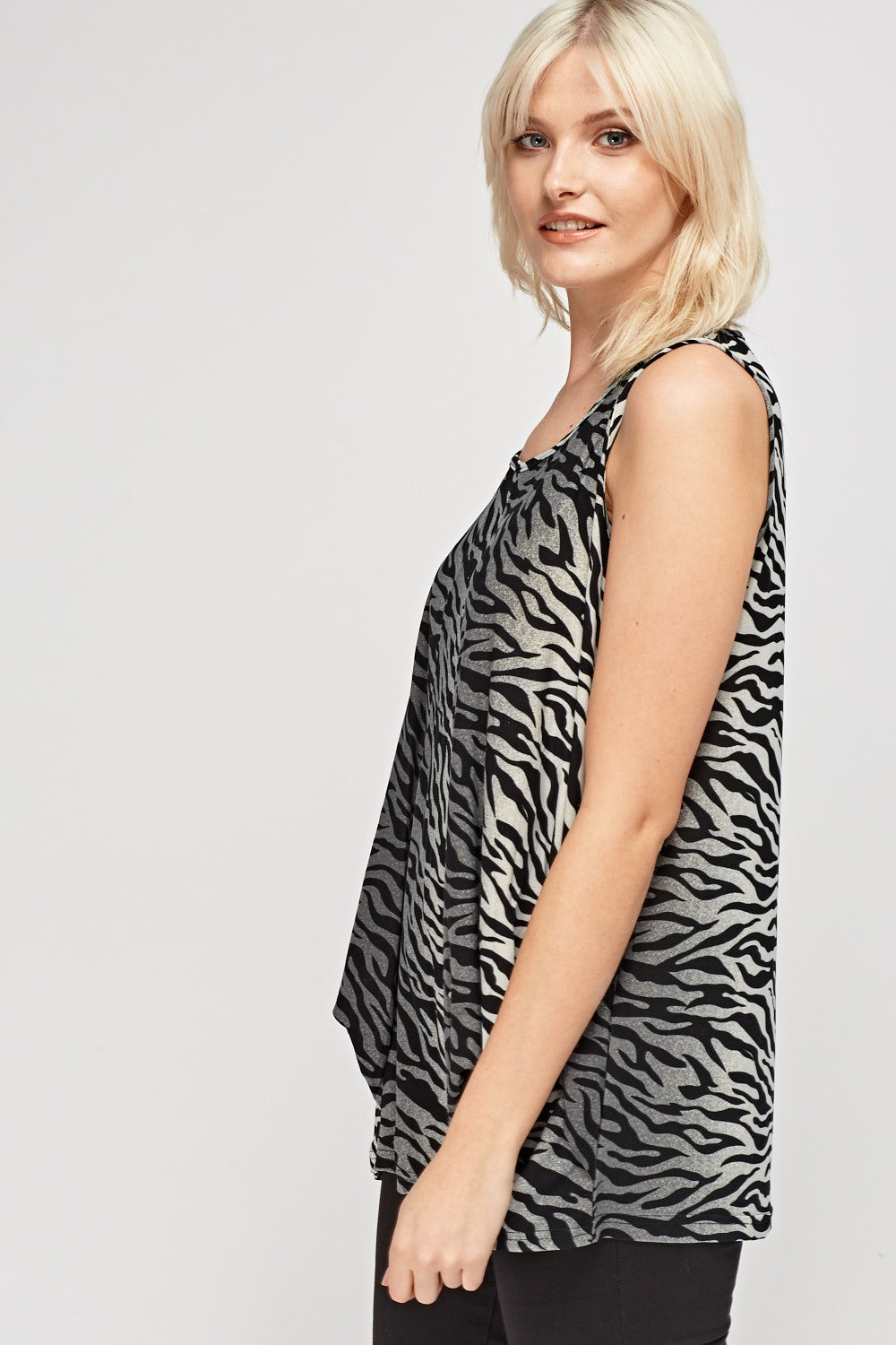 Top casual animal print - MiTiendaSecreta