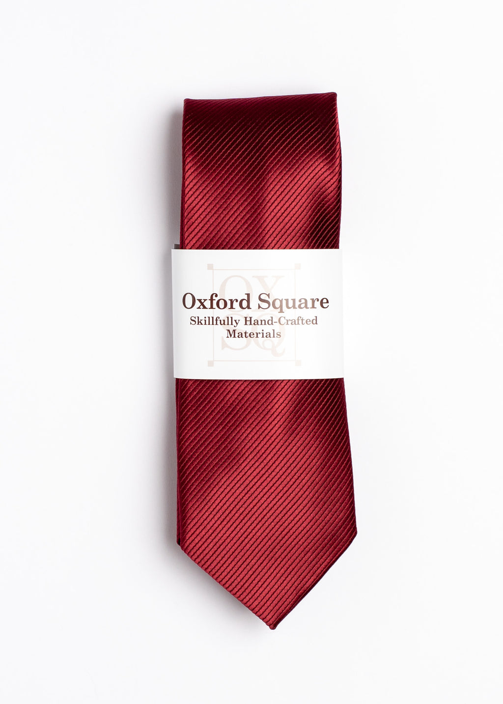Plain Red Tie - Oxford Square