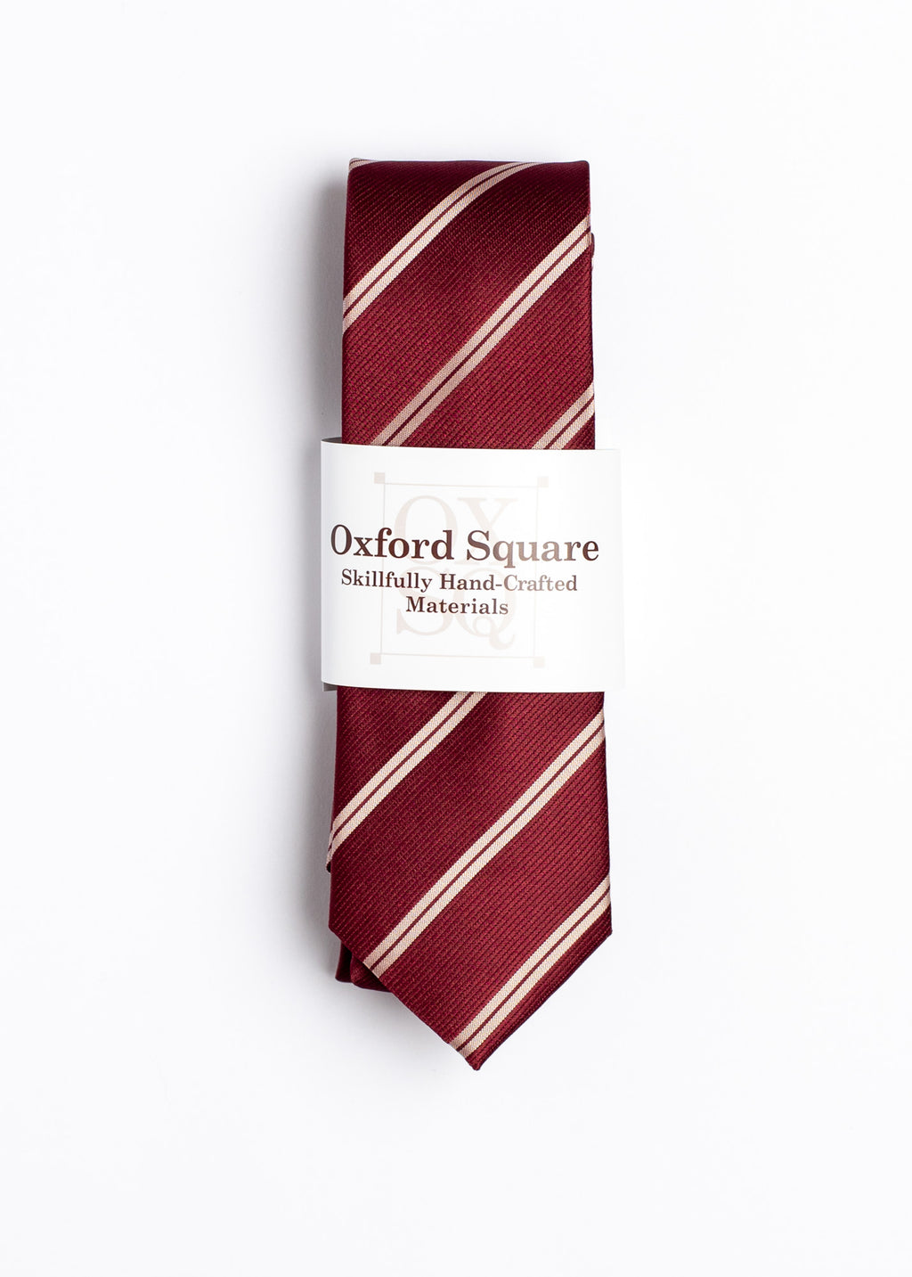 red and white striped pattern tie - Oxford Square