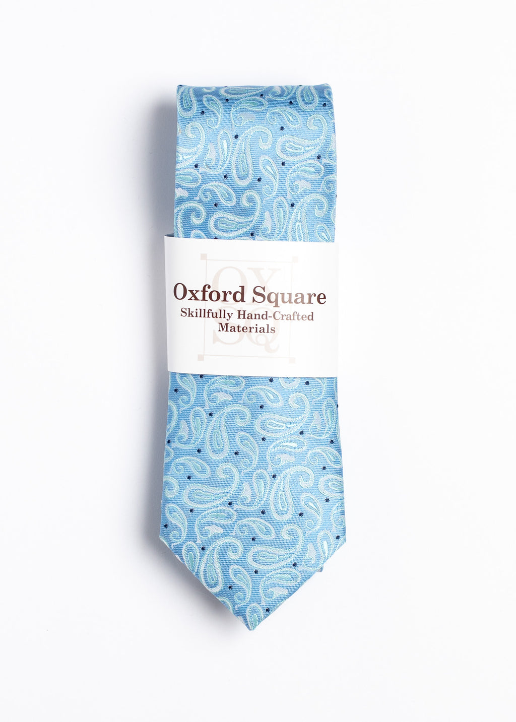 blue paisley pattern tie  - Oxford Square