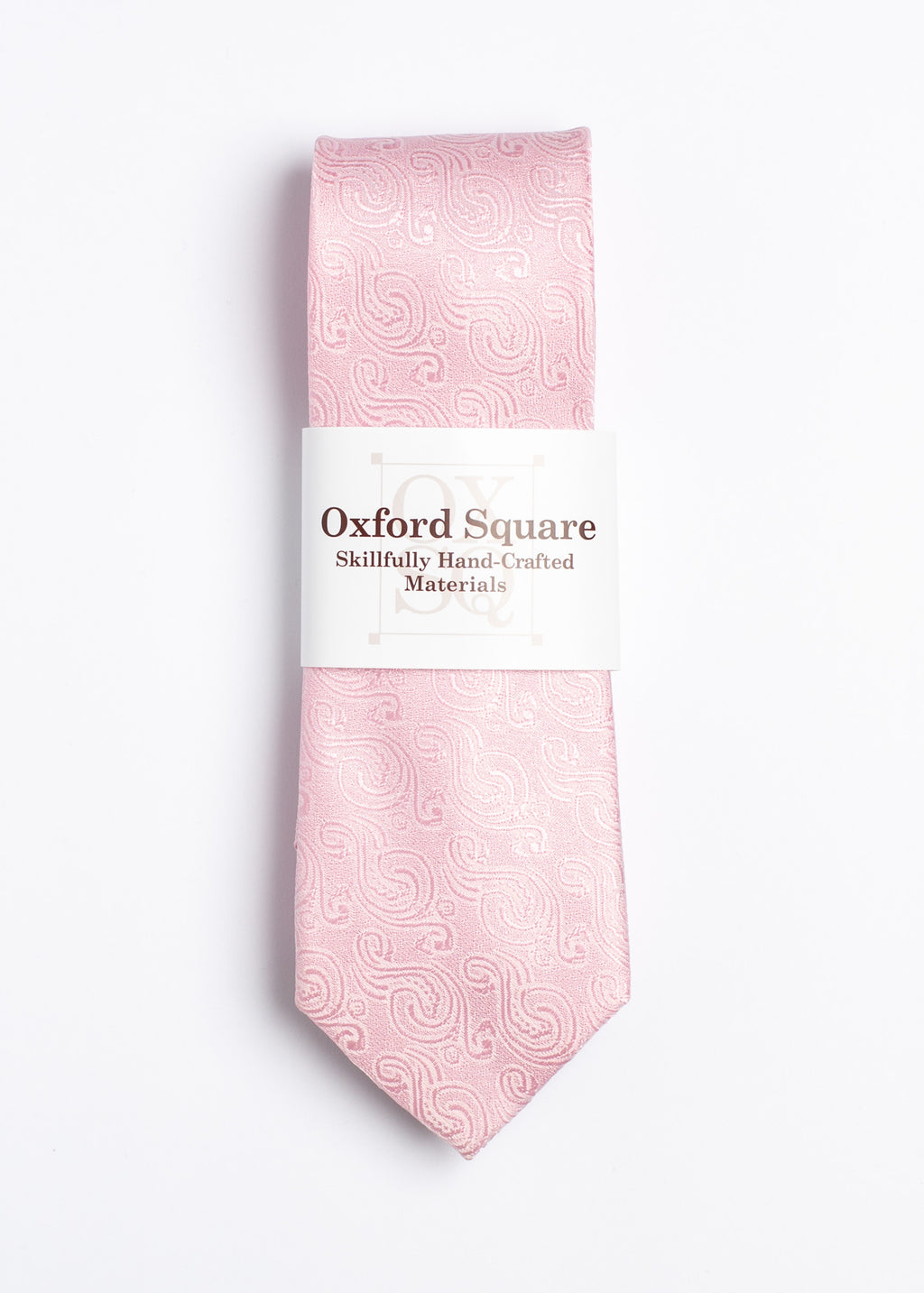 pink paisley pattern tie - Oxford Square