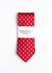 red and white paisley pattern tie - Oxford Square