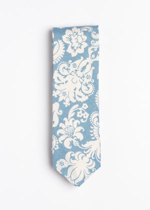 blue and white Hawaiian tie - Oxford Square