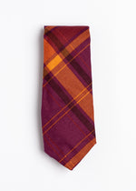 purple and orange plaid pattern tie - Oxford Square