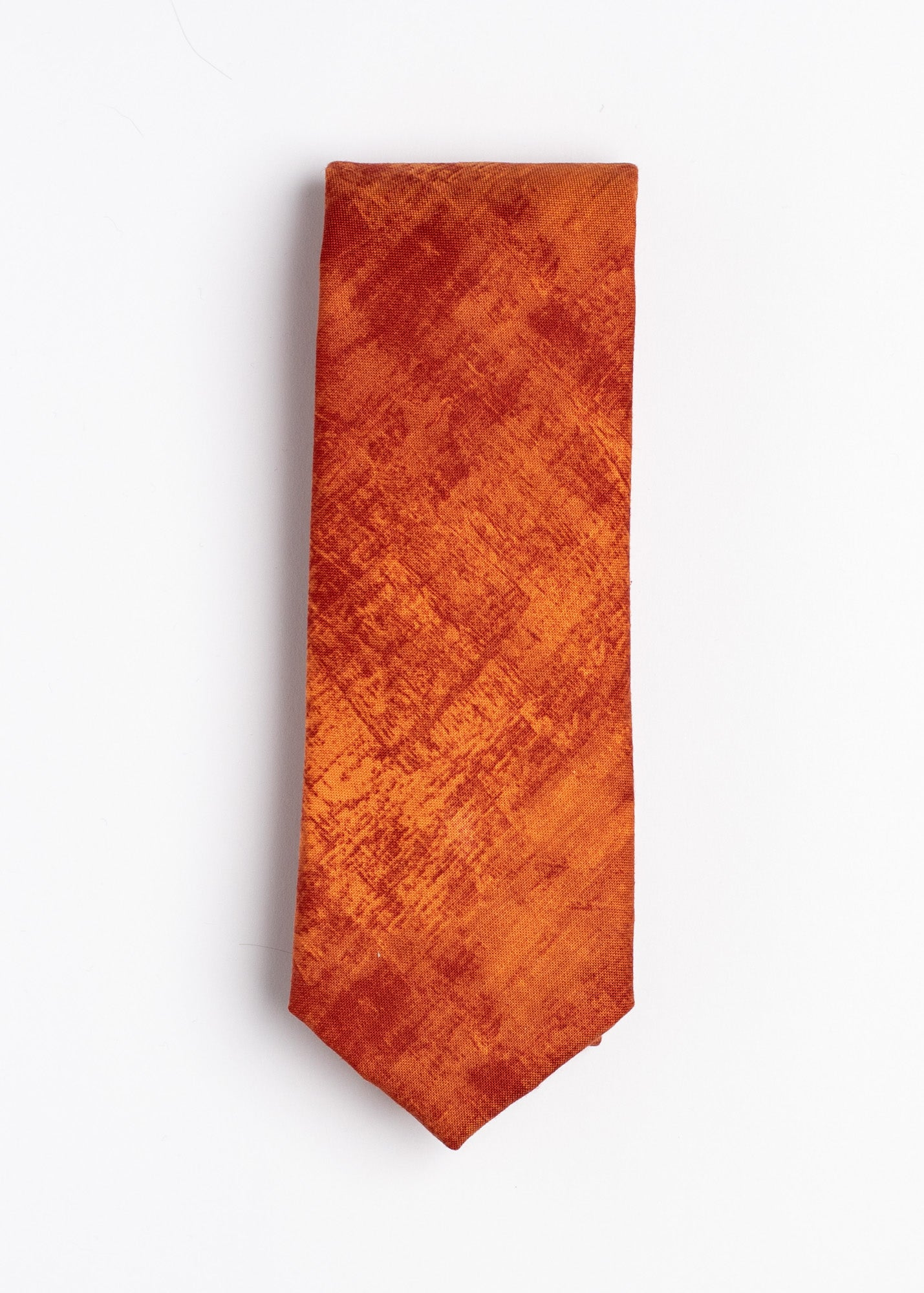 plain orange tie - Oxford Square