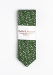 green and white floral pattern tie - Oxford Square