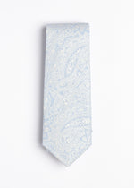 blue and white paisley pattern tie - Oxford Square