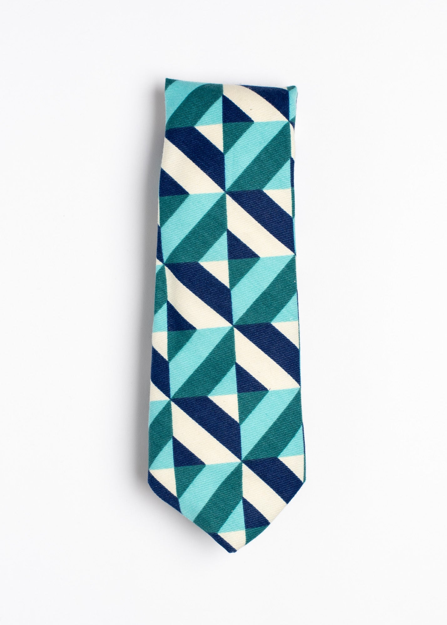 blue and white striped pattern tie- Oxford Square