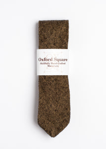 brown herringbone pattern tie - Oxford Square