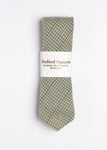 Tan and blue houndstooth pattern tie - Oxford Square