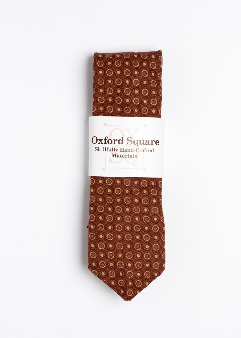 brown polka dot pattern tie - Oxford Square