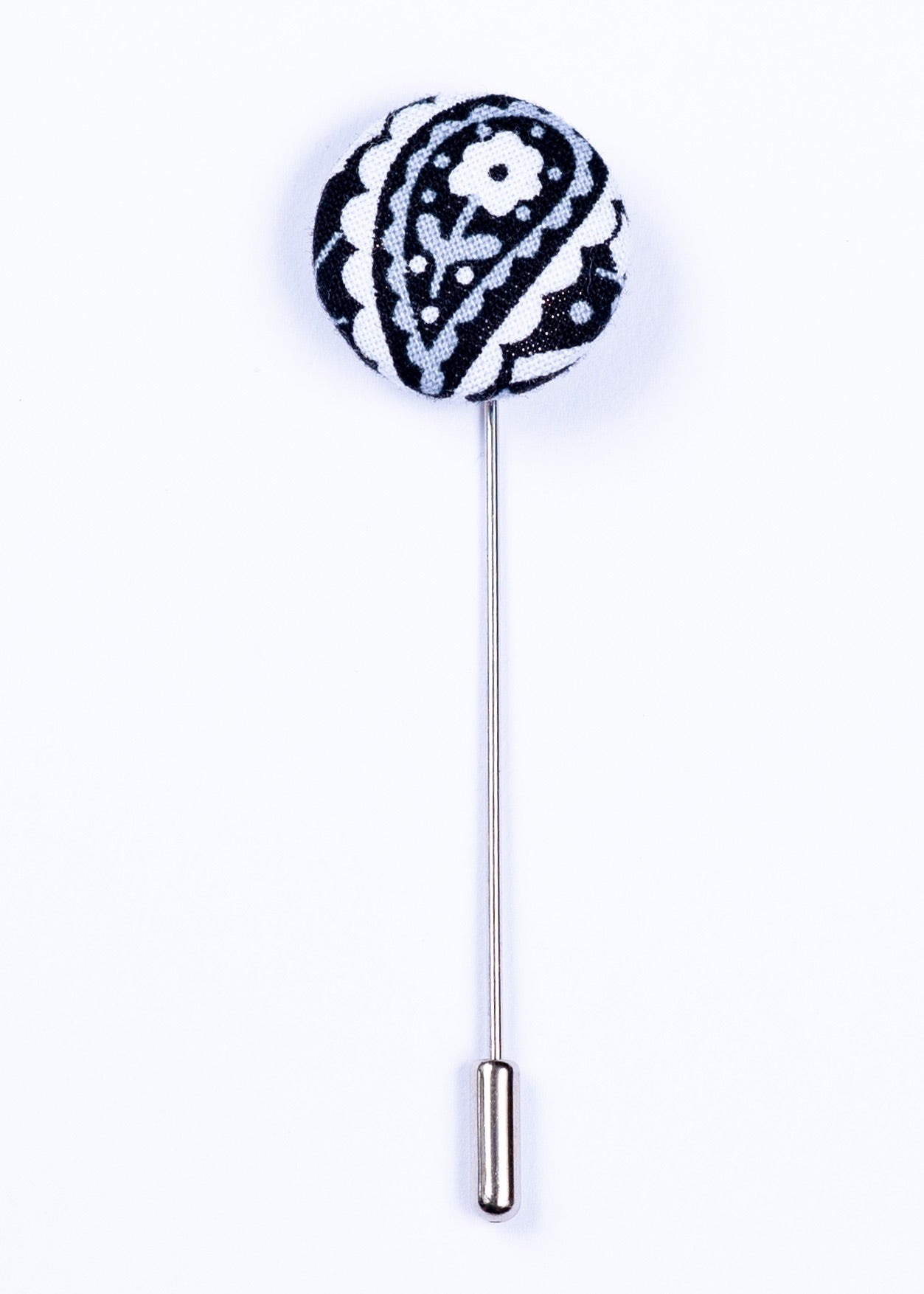 gray white and black lapel pin - Oxford Square
