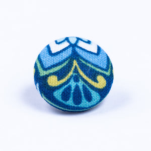 blue and yellow lapel pin - Oxford Square