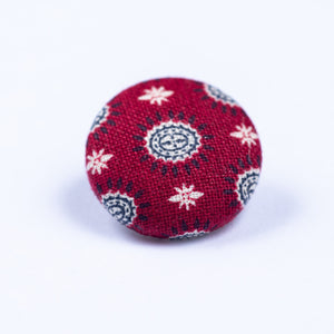 red and white button lapel pin - Oxford Square