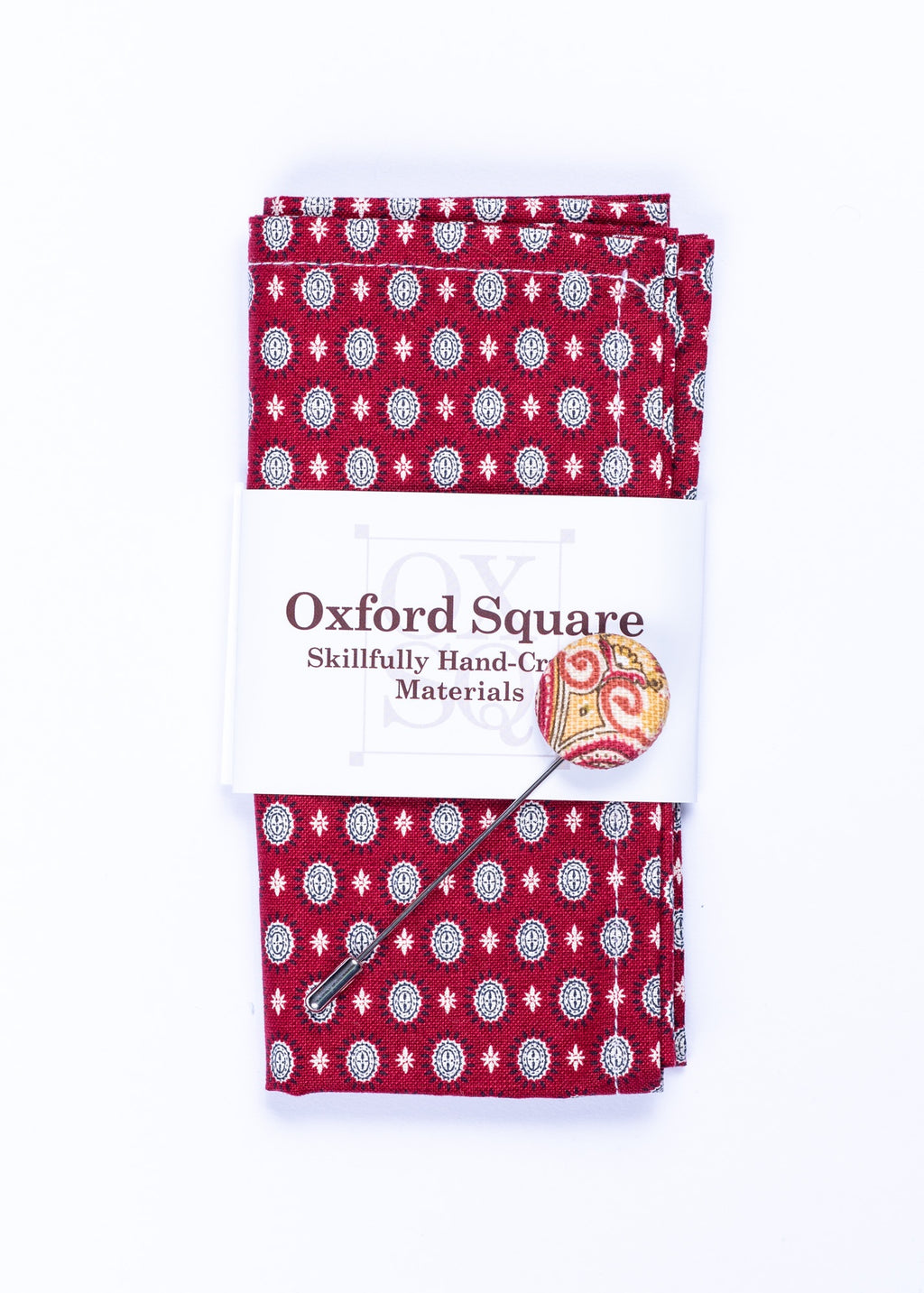 foulard pocket square and lapel pin pack - Oxford Square