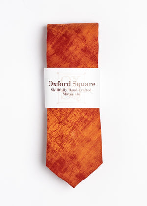 orange plain pattern tie - Oxford Square