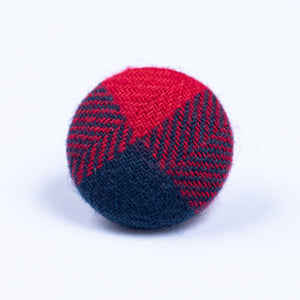 blue and red button lapel pin - Oxford Square