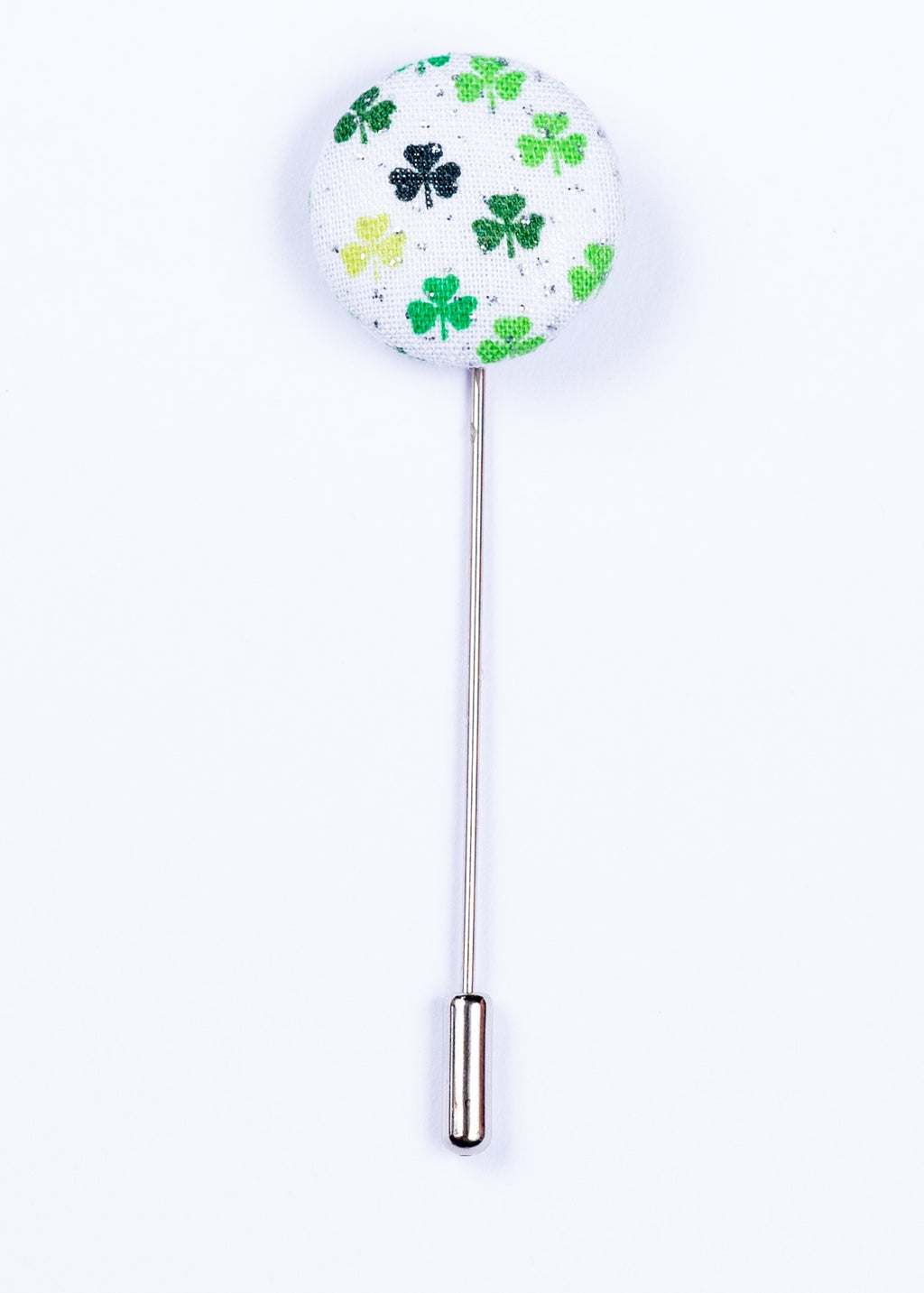 green and white shamrock lapel pin - Oxford Square