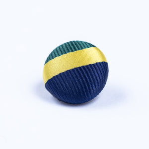 blue, green and yellow button lapel pin - Oxford Square