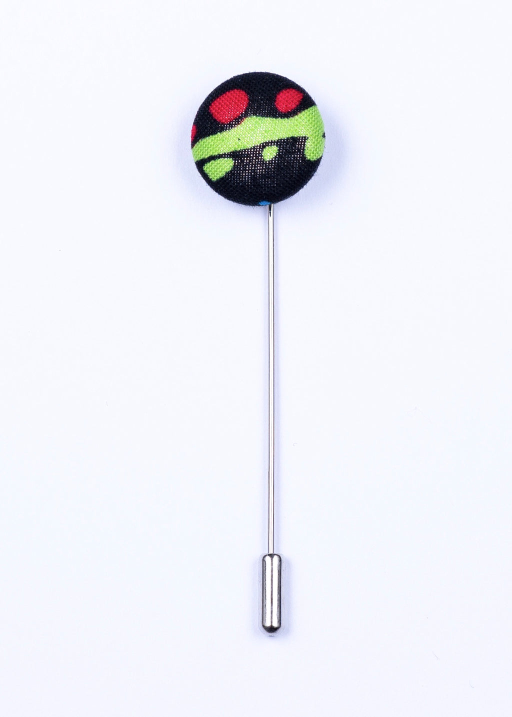Green, black and red button lapel pin - Oxford Square