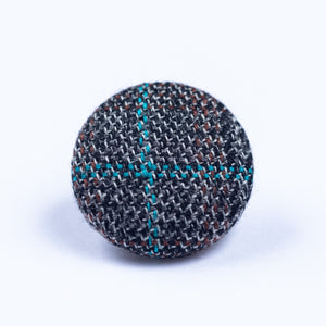brown and blue button lapel pin - Oxford Square