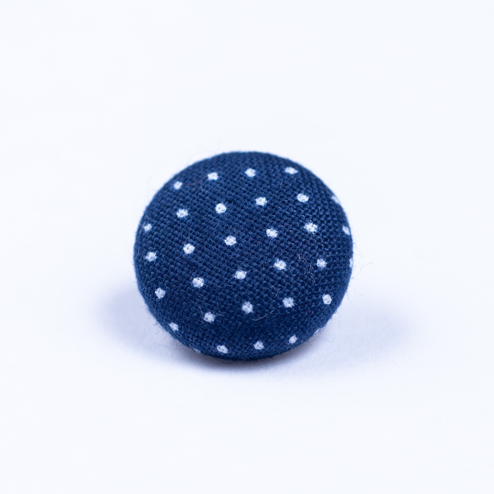 blue and white button lapel pin - Oxford Square