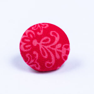 red lapel pin - Oxford Square
