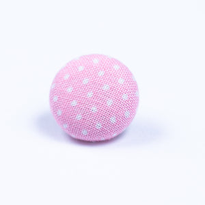 pink and white button lapel pin - Oxford Square