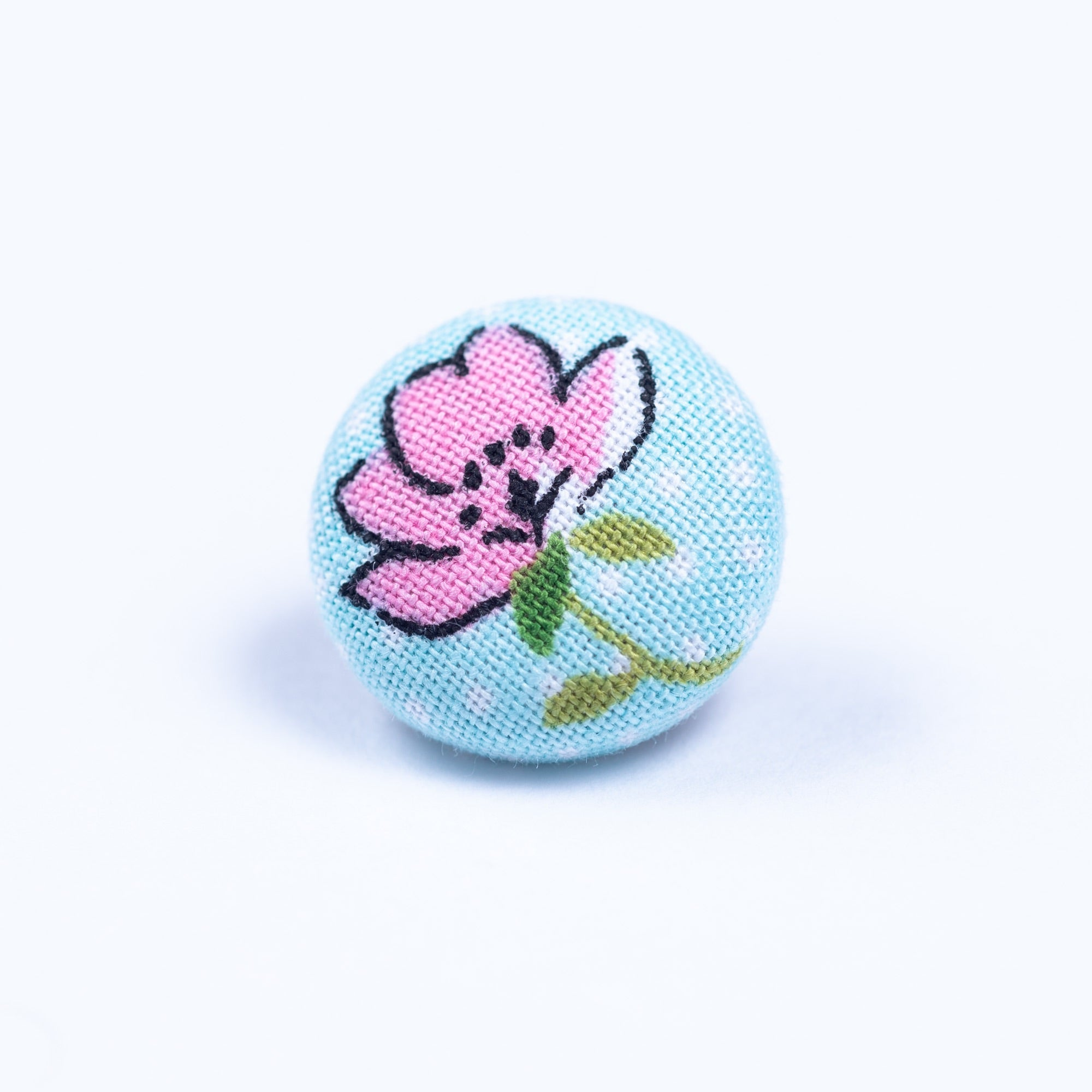 blue and pink button lapel pin - Oxford Square