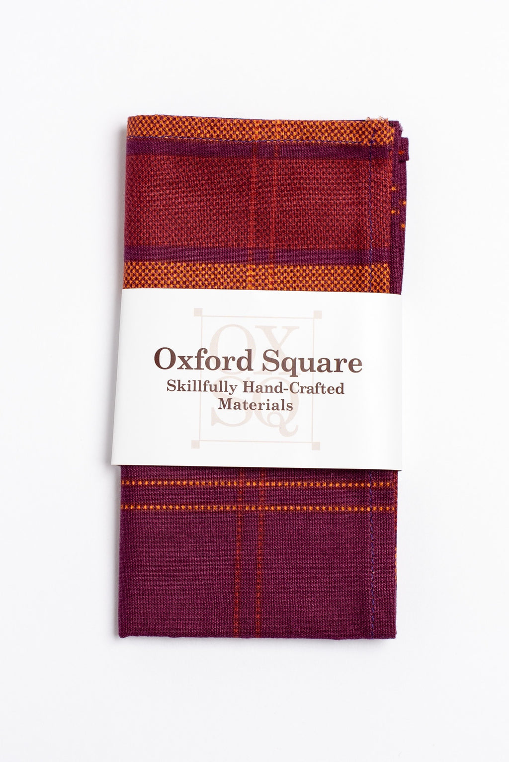 purple and orange plaid pattern pocket square - Oxford Square