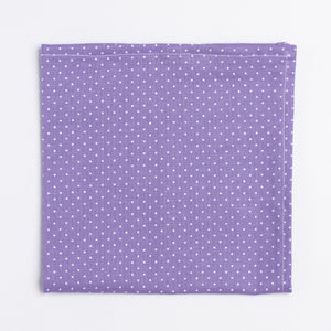 purple and white polka dot pattern pocket square - Oxford Square