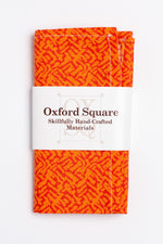 orange striped pattern pocket square - Oxford Square