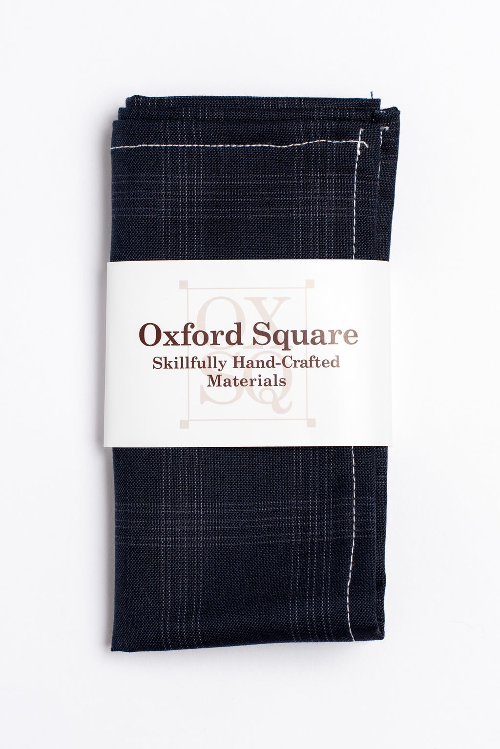 Blue plaid pattern pocket square - Oxford Square