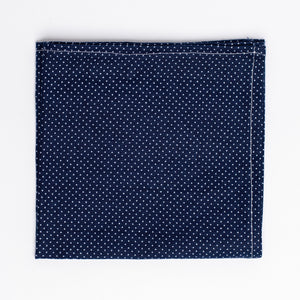 "blue and white polka dot pattern pocket square - The ""I Believe You're Killin' Me Smalls!"" Tie and Square Pack. - Oxford Square"