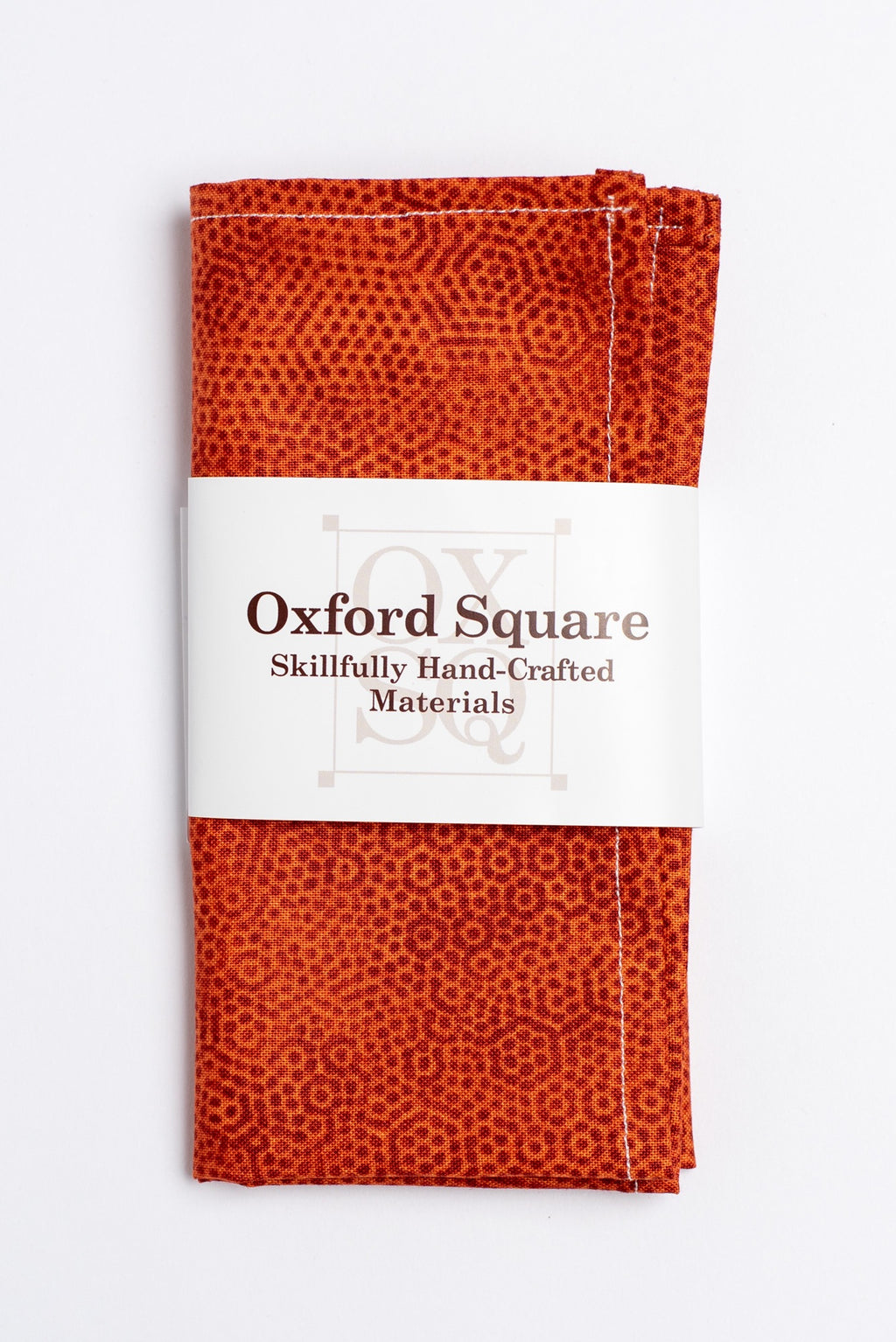 Orange polka dot pattern pocket square -Oxford Square
