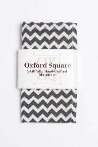 gray and white chevron pattern pocket square - Oxford Square