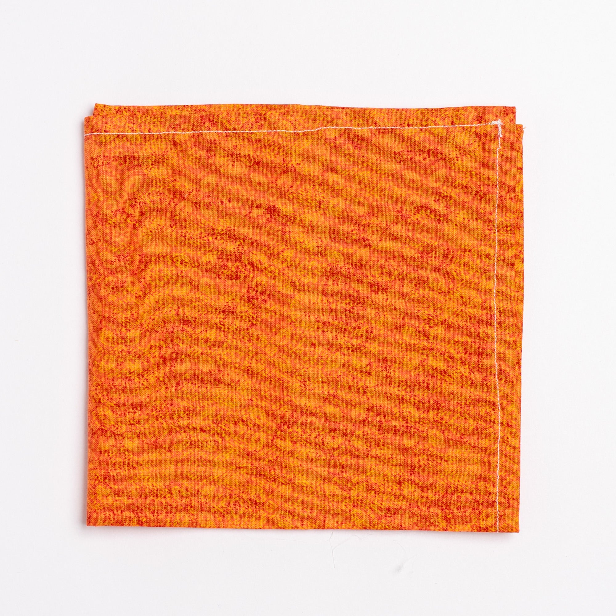orange floral pattern pocket square - Oxford Square
