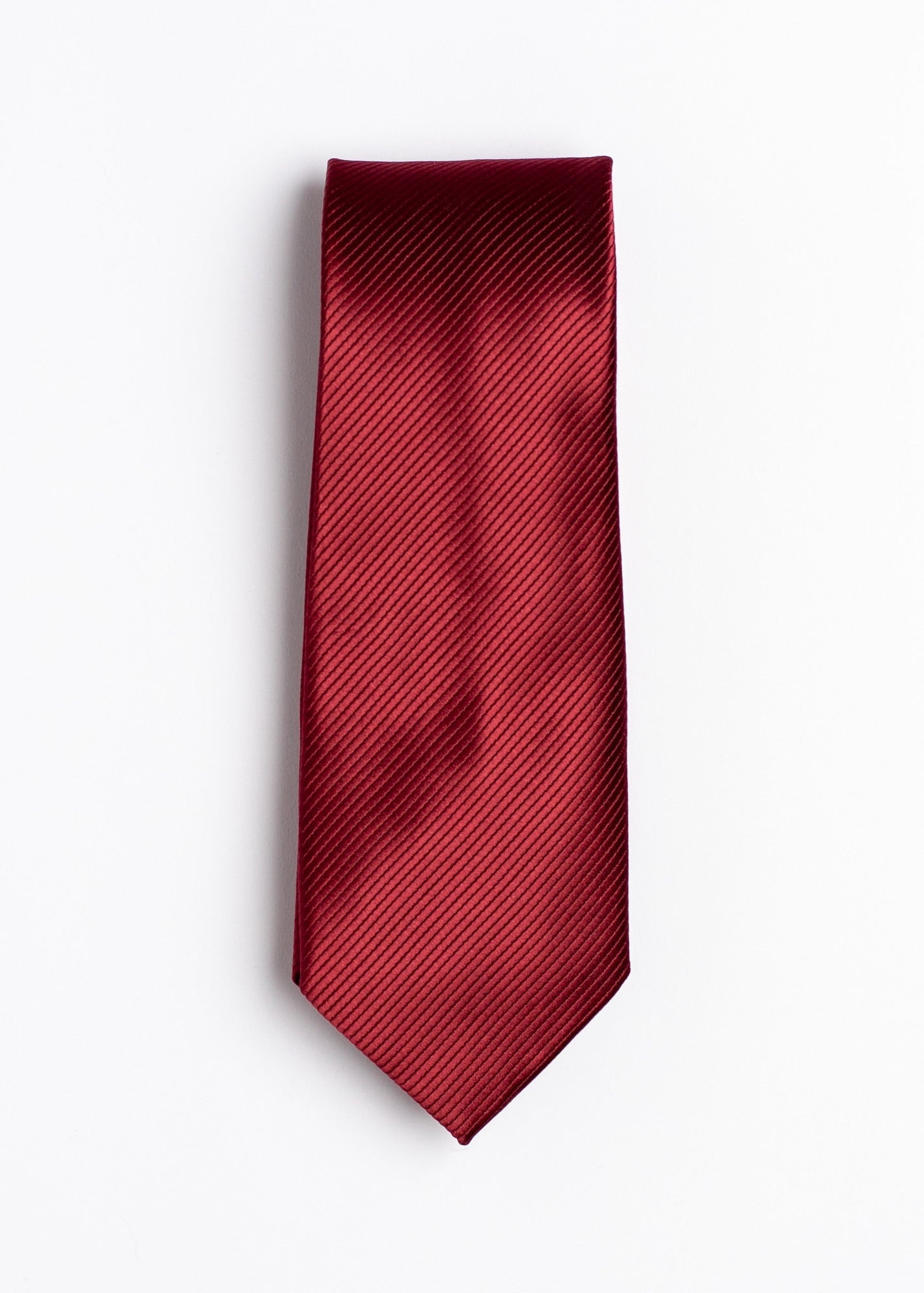 red plain pattern tie - Oxford Square